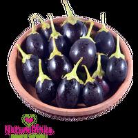 Brinjal Round Black Organic 500g