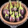 Brinjal Round Purple Striped Organic 500g